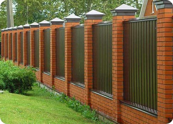 Заборы для дома фото